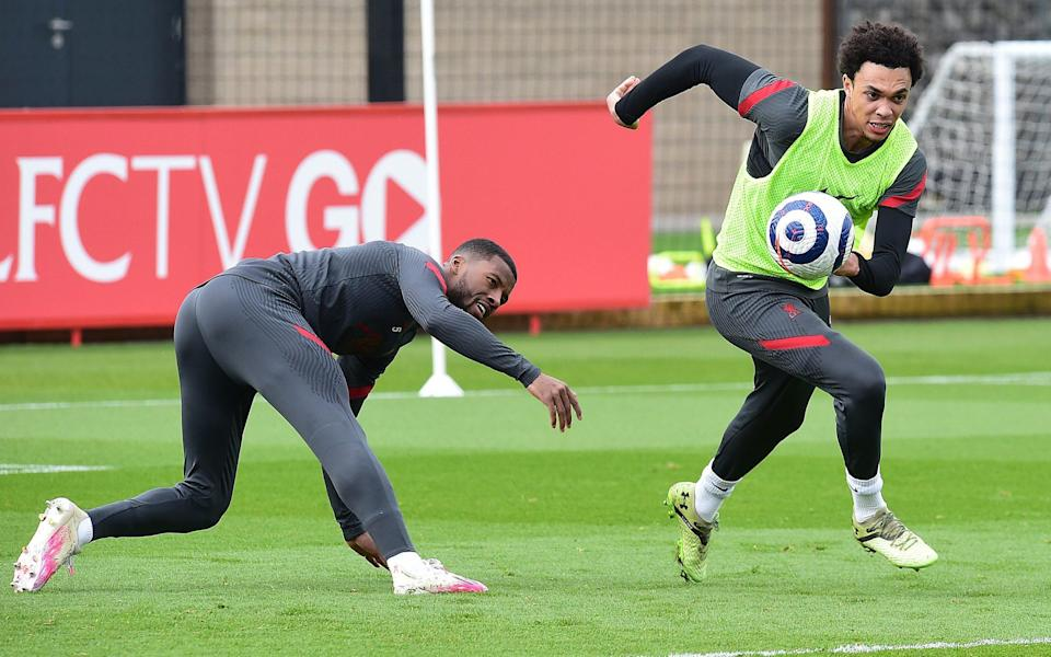 Trent Alexander-Arnold training with Liverpool - GETTY IMAGES