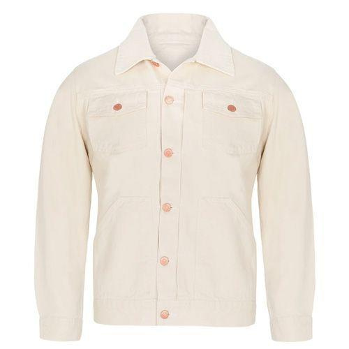 """<p><a class=""""link rapid-noclick-resp"""" href=""""https://theworkersclub.co.uk/products/mens-13oz-japanese-selvedge-denim-jacket-natural?variant=6098198265894"""" rel=""""nofollow noopener"""" target=""""_blank"""" data-ylk=""""slk:SHOP"""">SHOP</a></p><p>The Workers Club is becoming famous for its denim thanks to a near-obsessive search for the perfect fit and fabrication. Following on from the brand's successful indigo-dyed, Japanese selvedge denim jacket, for spring summer it has developed a natural tone equivalent.</p><p>With unique brass hardware and authentic chain stitching throughout, this 13oz selvedge denim jacket will last a lifetime (prepare to add it to your will). And don't be put off by the lighter shade, it's just as easy to style as indigo.</p><p>The Workers Club Denim Jacket, £275, <a href=""""https://theworkersclub.co.uk/products/mens-13oz-japanese-selvedge-denim-jacket-natural?variant=6098198265894"""" rel=""""nofollow noopener"""" target=""""_blank"""" data-ylk=""""slk:theworkersclub.co.uk"""" class=""""link rapid-noclick-resp"""">theworkersclub.co.uk</a></p>"""