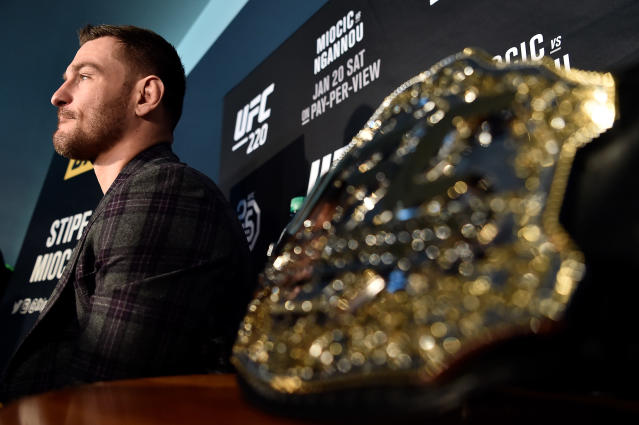 "UFC heavyweight champion Stipe Miocic flies under the radar and prefers to ""shut people up"" in the Octagon. (Getty Images)"