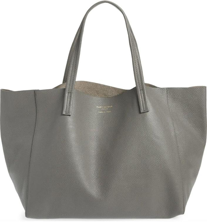 <p>This <span>Kurt Geiger London Violet Leather Tote</span> ($240) comes in several shades, including a few metallic choices.</p>