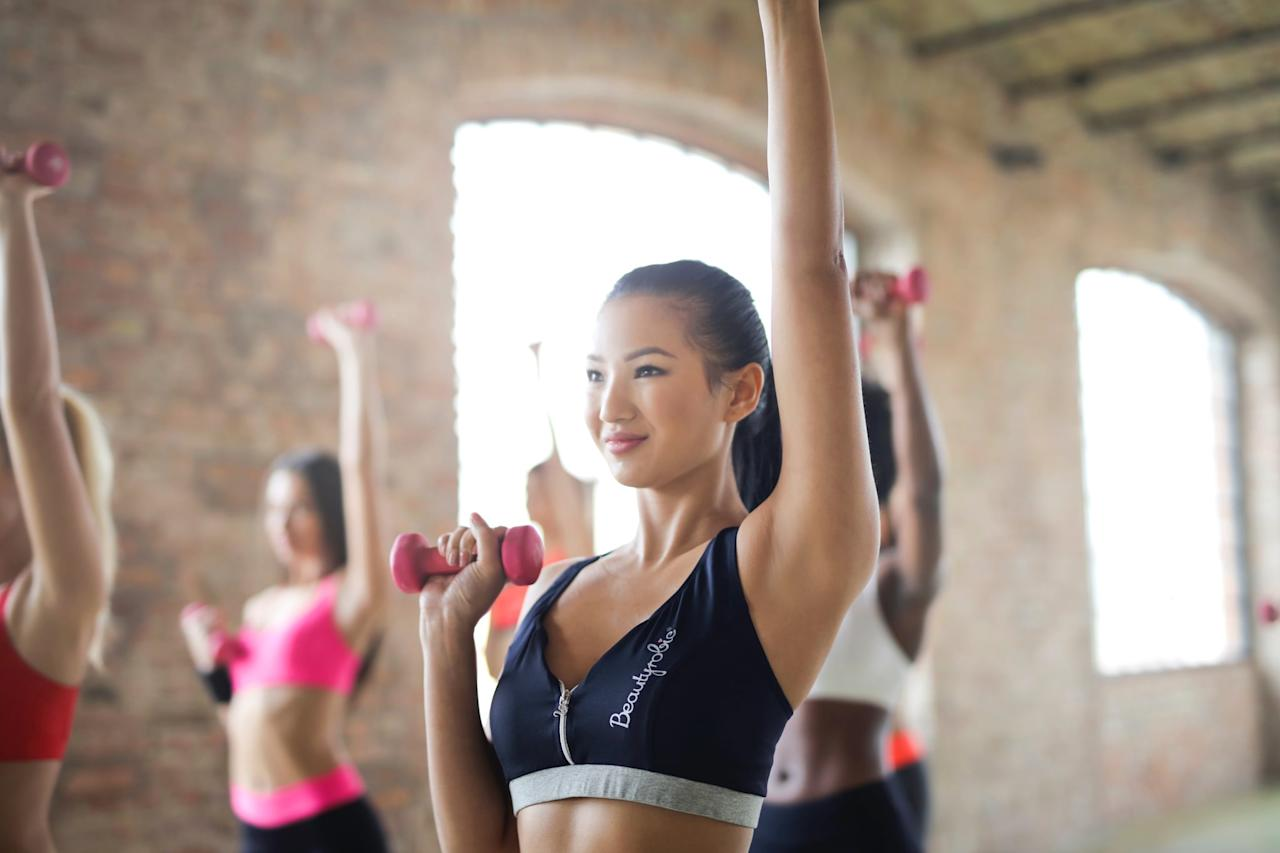 <p>A lot of people use YouTube and other streaming services for workouts. If you're concerned with decreasing your screen time, head to the gym instead. It may be slightly more expensive in the long run, but your body and mental health will both thank you.</p>