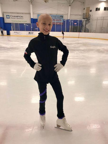PHOTO: Kaylee Tolleson is looking forward to returning to school and getting back to ice skating since beating ovarian cancer. (Kelly Tolleson)