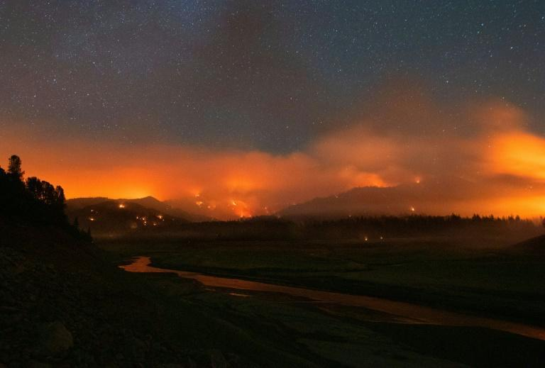 Fires raged across California with authorities battling to put out the flames and people asked to evacuate