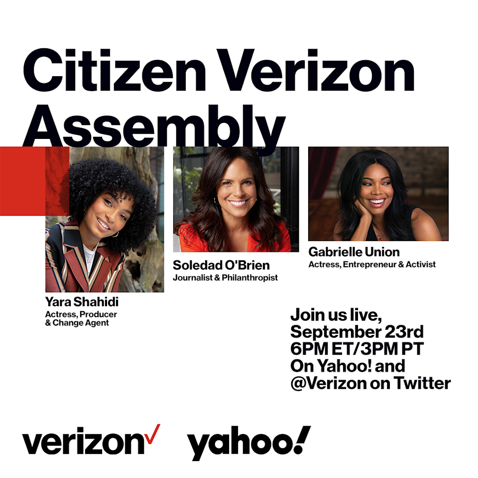 Citizen Verizon Assembly: Education Is Not Up for Debate brings together Yara Shahidi, Gabrielle Union, Soledad O'Brien, professors, politicians and business leaders for an urgent debate on today's education system, with a look to the future. (Verizon/Yahoo)