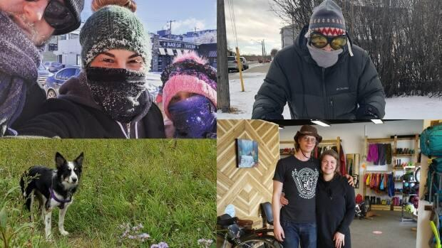 Some Saskatchewan people were inspired to make positive life changes when the global pandemic hit.  (Submitted by (clockwise from top left) Jess Gibson, Leah Knibbs, Life Outside and Maddie Ouellette - image credit)