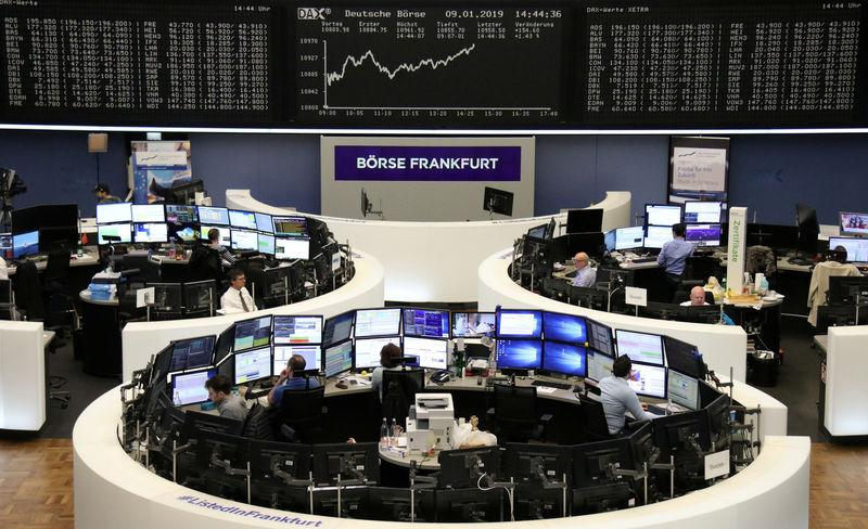 The German share price index DAX graph is pictured at the stock exchange in Frankfurt, Germany, January 9, 2019. REUTERS/Staff