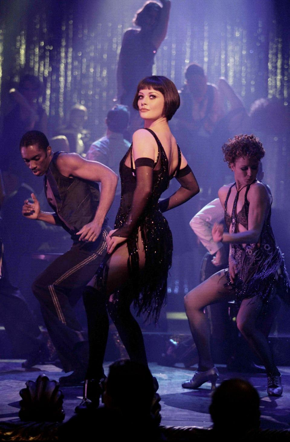 "Catherine Zeta-Jones is a husband-killing jazz singer in the musical ""Chicago."""