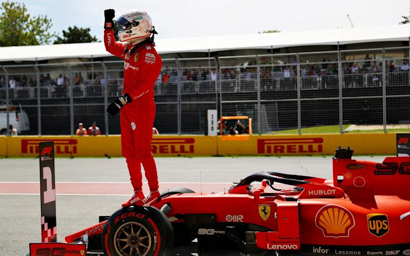 Sebastian Vettel took his first pole position in 17 races in Canada - Getty Images North America
