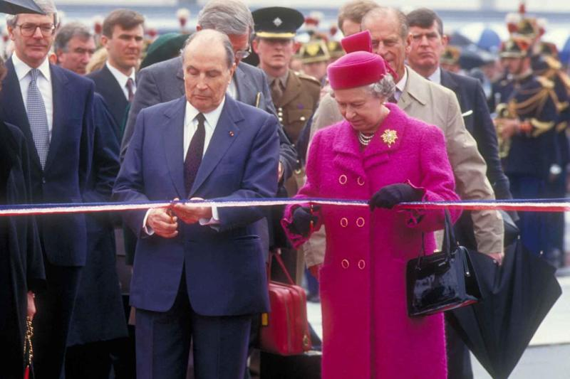 Happy days:on 6 May 1994 the Queen and the French president, François Mitterrand, opened the Channel Tunnel: Eurotunnel