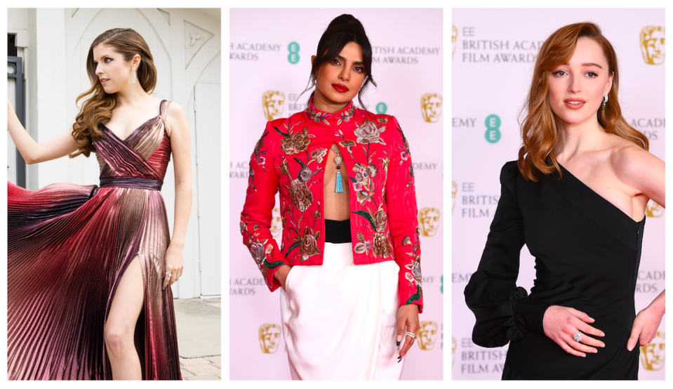 "<p>The 2021 British Academy Film and Television Awards (BAFTAs) occurred this weekend, and as a refreshingly change from most award ceremonies over the past year, we had some actual red carpet style to fawn over.</p><p>Despite most of the nominees appearing via video link, the celebrities presenting awards on the night, did so from the usual venue of the Royal Albert Hall, including actress Priyanka Chopra — who wore two outfits for the event.</p><p>Sadly, president of the BAFTA organisation Prince William — who was due to present an award at the annual bash that he normally attends with wife Kate Middleton — was noticeably absent from the proceedings this year, due to the passing of his grandfather Prince Philip on Friday (9th April).</p><p>According the <a href=""https://www.hollywoodreporter.com/news/prince-william-pulls-out-of-bafta-awards-following-death-of-prince-philip?utm_source=twitter&utm_medium=social"" rel=""nofollow noopener"" target=""_blank"" data-ylk=""slk:The Hollywood Reporter"" class=""link rapid-noclick-resp"">The Hollywood Reporter</a>, the BAFTAs released this official statement regarding his cancelled appearance: 'In light of the Duke of Edinburgh's passing, the Duke of Cambridge will no longer be part of BAFTA programming this weekend. Our thoughts are with the royal family, to whom we offer our deepest sympathy at this time.' </p><p>The BAFTAs was broadcast over two nights to accommodate for the various virtual appearances both here in the UK and overseas, with stars including Vanessa Kirby, Anna Kendrick and Felicity Jones showing off their star-studded outfits for the evening — most of whom chose designer Louis Vuitton for the event.</p><p>Here we chart the best dressed attendees and virtual nominees red carpet looks from the 2021 BAFTAs.<br></p>"