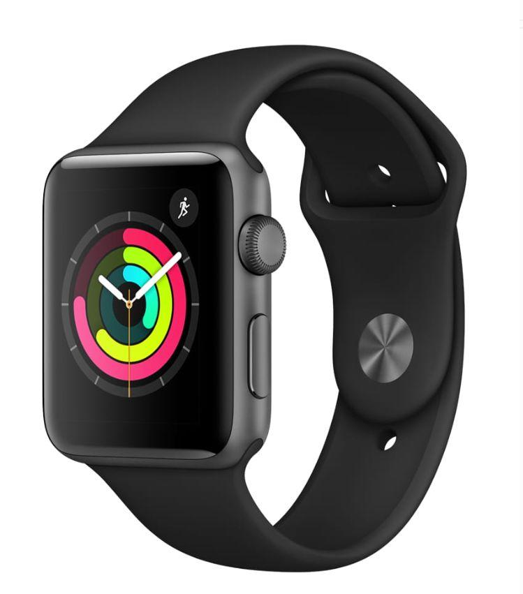 Apple Watch Series 3 GPS, 42mm, Sport Band, Aluminum Case in Space Gray / Black. (Photo: Walmart)