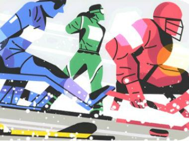 Google Doodle to mark the commencement of Winter Paralympics 2018. Google Doodle.
