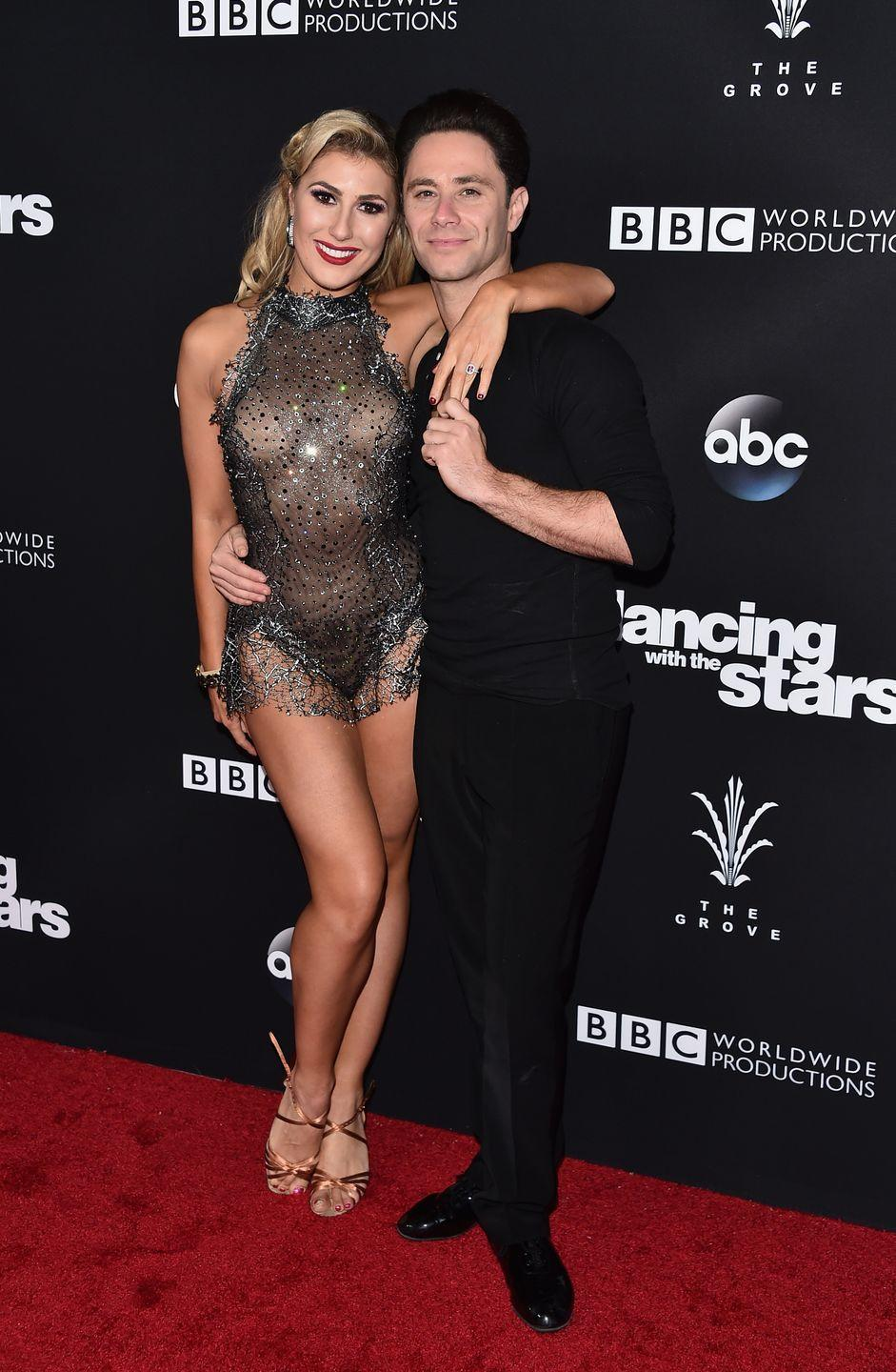 <p>Another set of professional dancers from <em>DWTS</em> partnered up in real life when Emma Slater and Sasha Farber tied the knot in 2018. The couple met on set of the show after Emma joined the cast as a pro in 2013. </p>