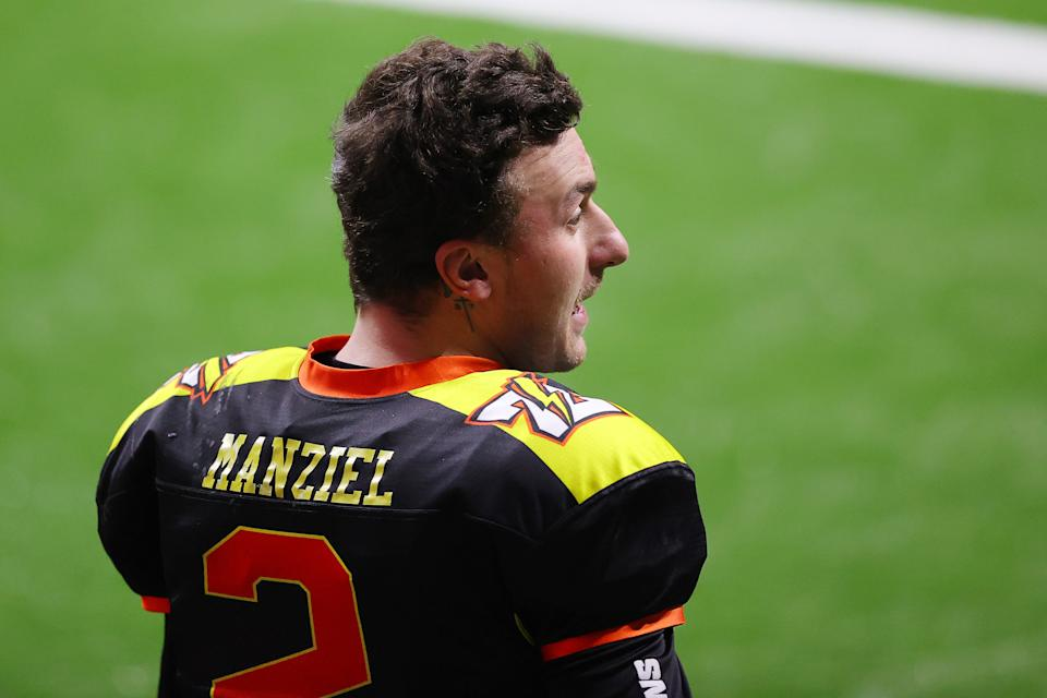 Johnny Manziel. (Kevin C. Cox/Fan Controlled Football/Getty Images)