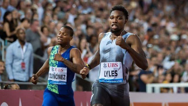 Noah Lyles 'breaks' Usain Bolt's 200m world record in unique high-tech athletics meet, later discovers he ran only 185 metres