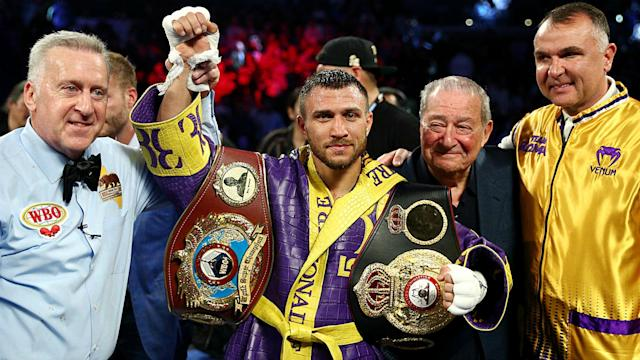 Lomachenko, the WBA and WBO champion, will attempt to add to his belt collection later this summer in the U.K.