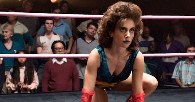 Alison Brie in the ring on 'GLOW.' (Photo: Metadata)