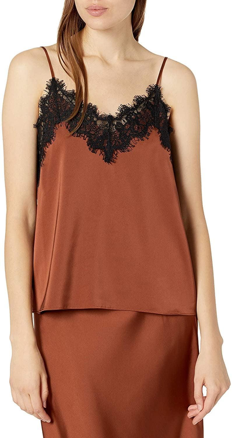 <p>We love the autumnal color of this <span>The Drop Natalie V-Neck Lace-Trimmed Camisole Tank Top</span> ($35).</p>