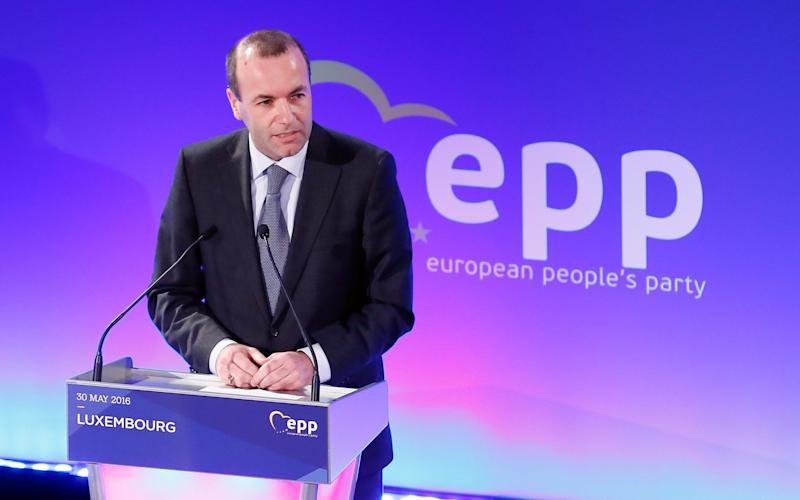 Manfred Weber will meet Theresa May in London on Wednesday - EPA
