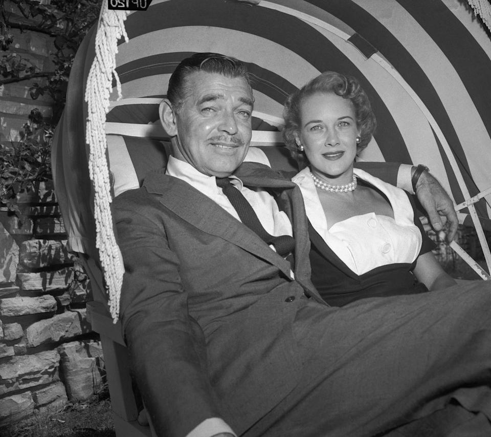 <p>Clark Gable famously eloped with his third wife, Carole Lombard, in 1939, and did it again in 1955 with Kay Spreckels. The actor announced their marriage with a photoshoot at his ranch. </p>