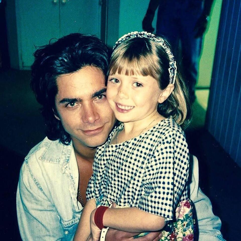 John Stamos, Elizabeth Olsen, Throwback photo