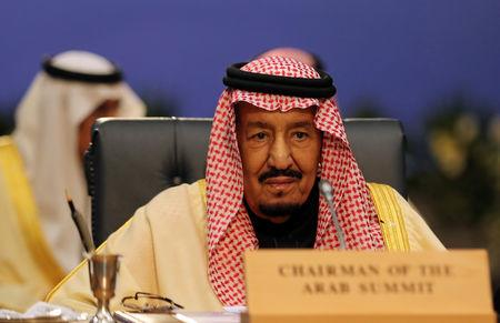 Saudi Arabia's King Salman attends a summit between Arab league and European Union member states, in the Red Sea resort of Sharm el-Sheikh, Egypt, February 24, 2019. REUTERS/Mohamed Abd El Ghany/Files