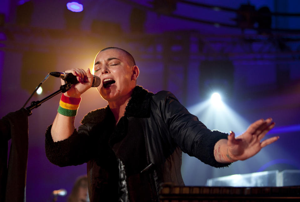 Sinead O'Connor performs at St John's Church in Hackney, east London, as part of the Little Noise Sessions in aid of Mencap.