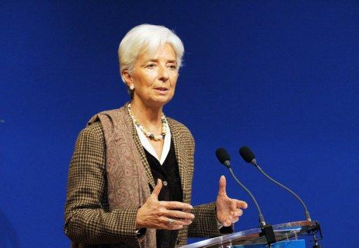 IMF chief Christine Lagarde, pictured in November