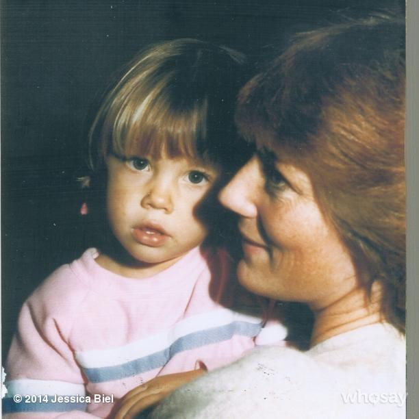 """<p>Here's baby Biel <a href=""""https://www.instagram.com/p/moKkNHxacm/"""">cuddled up next to her mom</a> and her mom's """"amazing feathered 80's hair situation.""""</p>"""