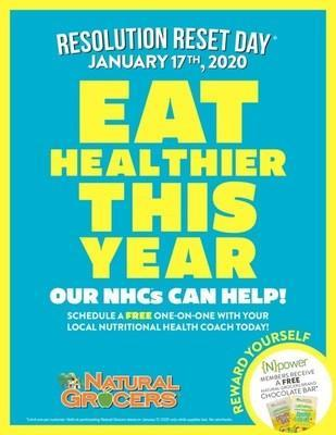 Join Natural Grocers for Resolution Reset 2020 on January 17. Eat Healthier this Year!