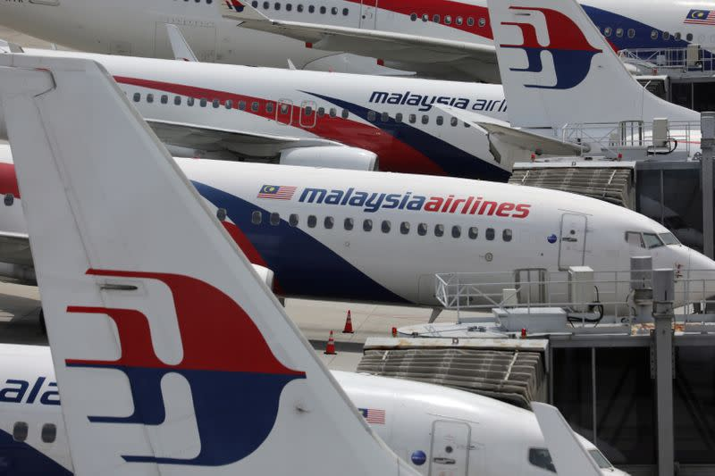 Malaysia Airlines planes are seen parked at Kuala Lumpur International Airport, amid the coronavirus disease (COVID-19) outbreak in Sepang