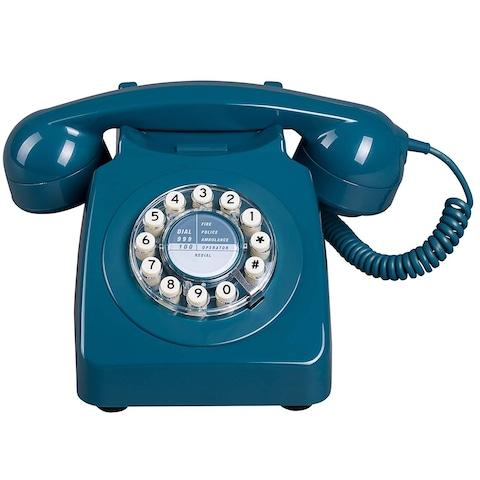 Wild Wood Retro Telephone - Credit: Amazon