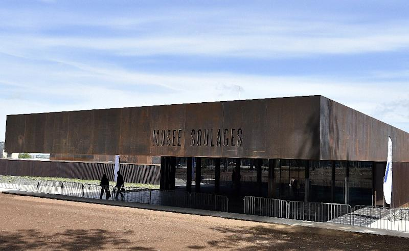 A general view of the Soulages Museum in Rodez in southwestern France, desinged by RCR Arquitectes (AFP Photo/PASCAL PAVANI)