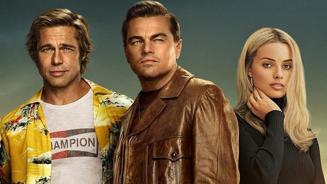 Brad Pitt, Leonardo DiCaprio and Margot Robbie star in Quentin Tarantino's <em>Once Upon A Time In Hollywood</em>. (Sony)