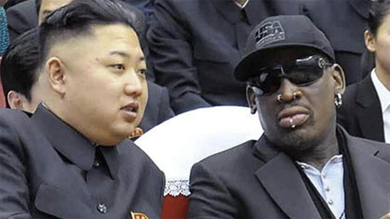 Rodman and the North Korean leader enjoy hanging out together. Pic: Getty
