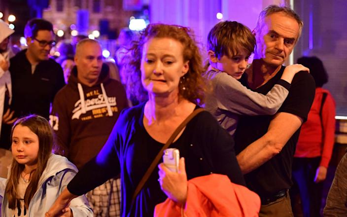 People were told to leave the area amid a 'major incident' - Credit: Dominic Lipinski/PA