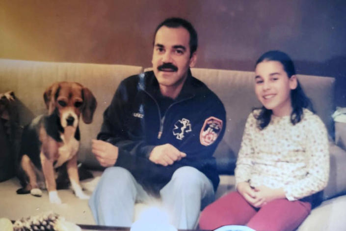 A picture of Devyn with her father, around the time of 9/11. (Courtesy Devyn Rafols-Nuñez)