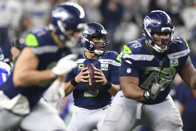 Give Russell Wilson an inkling of time — he'll make something happen. Mandatory Credit: Shane Roper-USA TODAY Sports