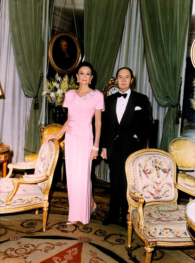 Jacqueline and Édouard de Ribes at home in Paris.