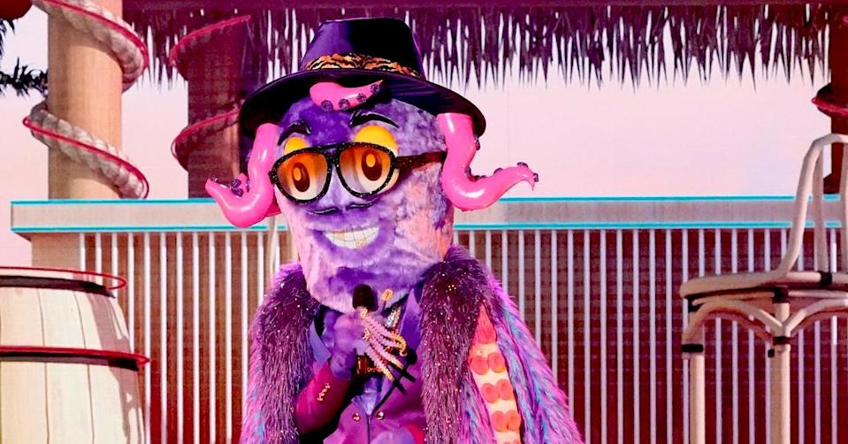 The Octopus is the first to go home on 'The Masked Singer' Season 6. (Photo: Fox)