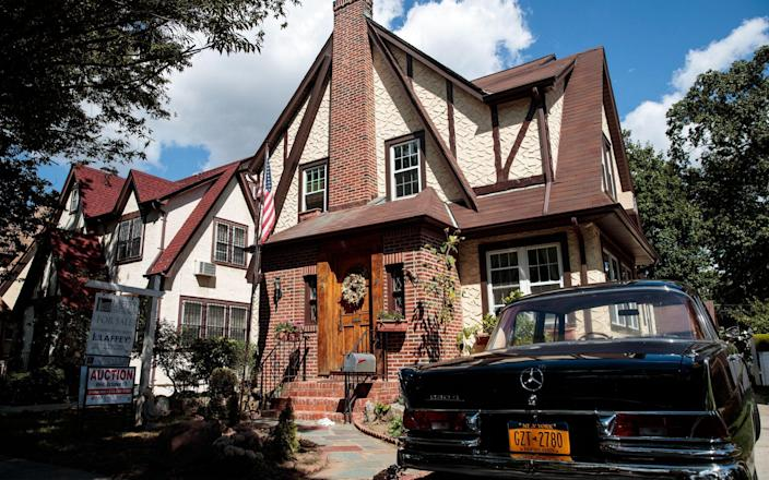 The house in Jamaica Estates, an affluent area of New York - GETTY IMAGES