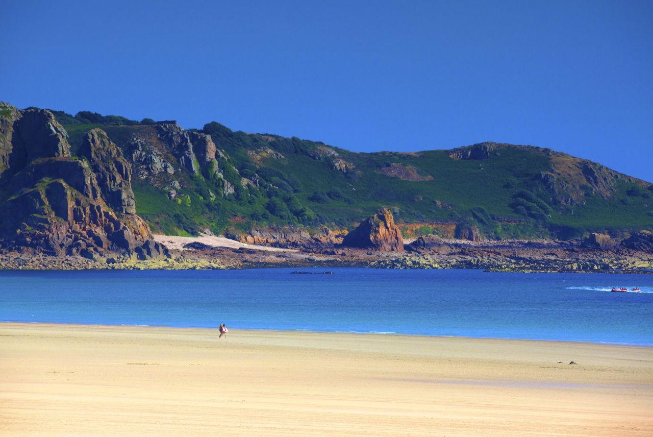 <p>A short hop over the channel to Jersey and you'll discover St Brelade's Bay, a postcard-perfect sandy expanse with water a colour more Caribbean than Channel Island. The third-best beach is also a winner for gastrophiles, with a string of top seafood restaurants along the shore. (Rex)</p>