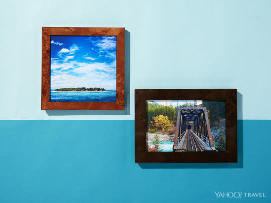 """<p>Frame-worthy vacation photos used to mean lugging a heavy camera on your travels, printing out photos once home, and then picking out frames at the nearest store. The entire process is majorly streamlined with <a href=""""http://www.frameology.com/"""" rel=""""nofollow noopener"""" target=""""_blank"""" data-ylk=""""slk:this service"""" class=""""link rapid-noclick-resp"""">this service</a>, which lets you upload a photo directly from your phone or Instagram, choose a frame online, and have it shipped to your house. <i>(Photo: Jon Paterson for Yahoo Travel)</i></p>"""