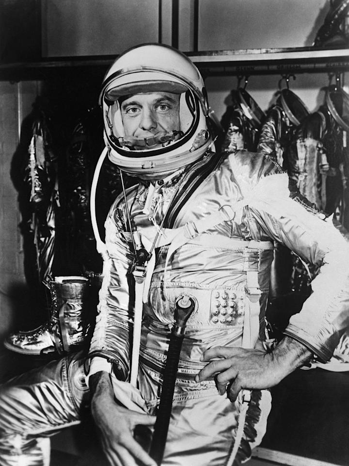 <p>In 1961, Shepard was the first American to reach space aboard the Freedom 7 Mercury capsule. Kraft directed Shepard's successful flight and would go on to direct several more, including every Mercury mission and some Gemini ones.<em></em><br></p>