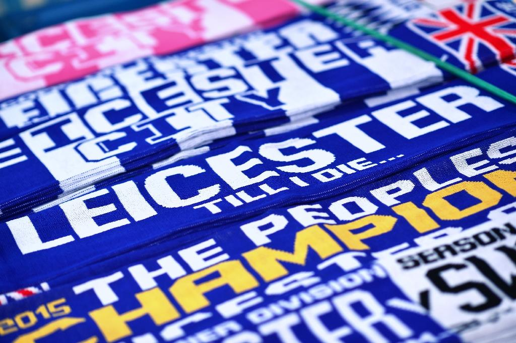 Leicester narrowly avoided relegation from the Premier League last season but are now champions (AFP Photo/Ben Stansall)