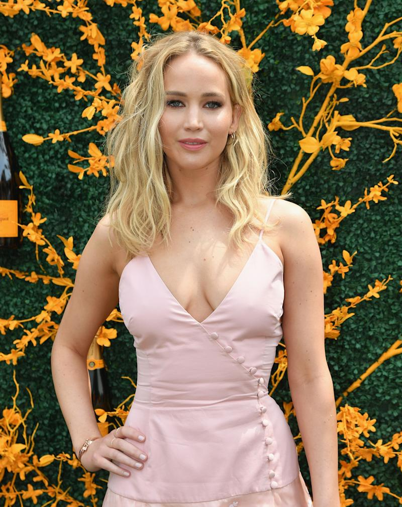 Jennifer Lawrence attends the 12th Annual Veuve Clicquot Polo Classic at Liberty State Park on June 1, 2019 in Jersey City, New Jersey. (Photo by Angela Weiss / AFP) (Photo credit should read ANGELA WEISS/AFP/Getty Images)