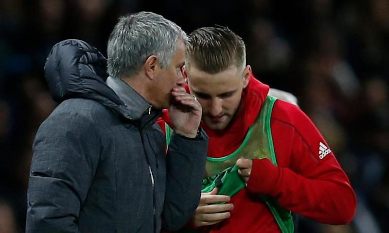 José Mourinho said Luke Shaw was 'using his body with my brain' after giving the left-back his first Manchester United appearance since January in the second half against Everton.