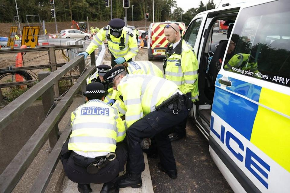 Last month Cathy Eastburn was involved in stunts on the M25 and at Heathrow for Insulate Britain (Nigel Howard)