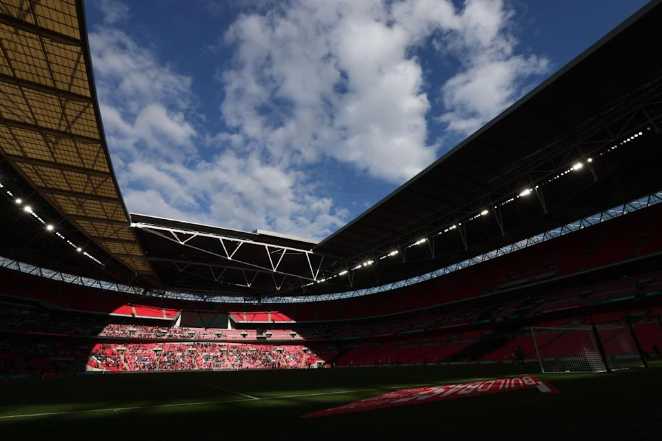 <p>Wembley will host all of England's group games as well as the semi-finals and final </p> (The FA via Getty Images)