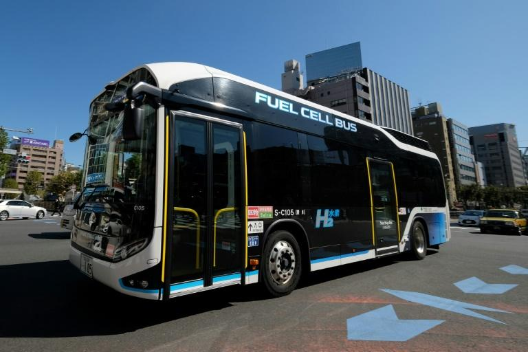 Toyota says fuel-cell technology can also be used in heavy vehicles, including buses and trucks (AFP Photo/Kazuhiro NOGI)